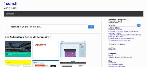 L'annuaire 1com.fr est un véritable vecteur de communication