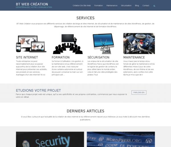 BT Web Création: votre partenaire WordPress